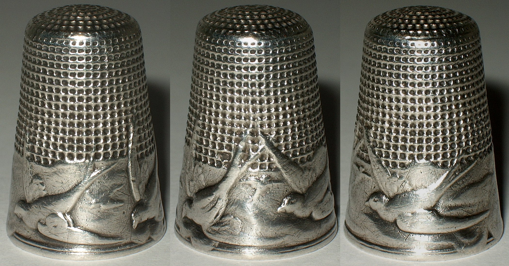 how to clean antique silver thimble
